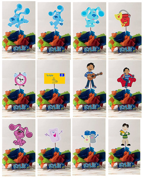 Blue's Clues Party Centerpieces decorations birthday magenta josh