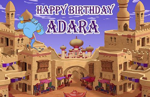 Aladdin and Jasmine Birthday Party Banner Background