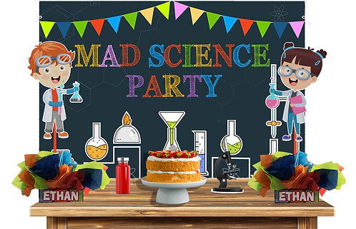 Science BirthdayParty Decorations backdrop