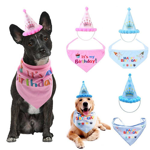 Pet Cat Dog Birthday Headwear Hat Party Costume Headwear