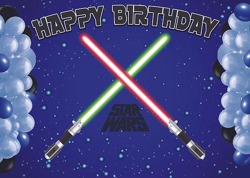 Star Wars Birthday Party Banner Background