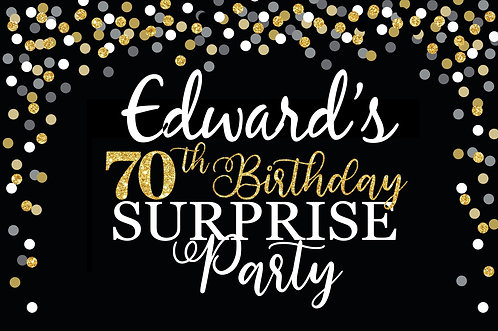 70th Birthday Party Banner Background