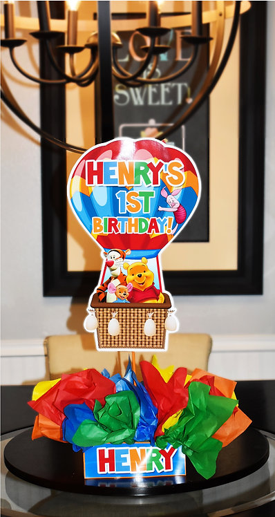 Winnie the pooh Birthday Party Centerpieces decorations