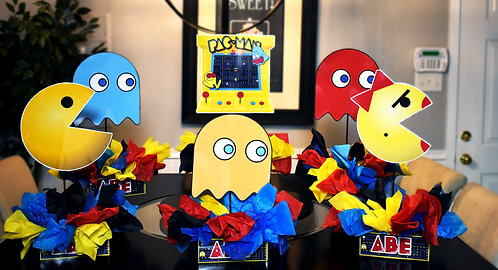 Pacman Ms Pacman Birthday Party Centerpieces decorations