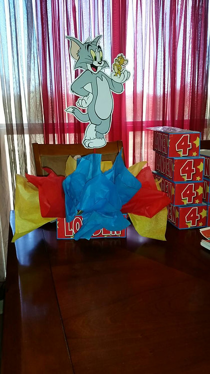 Tom and Jerry Birthday Party Centerpieces