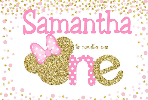 Minnie Mouse Birthday Party Banner Background