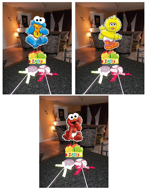 Baby Sesame Street Party Centerpieces Decorations