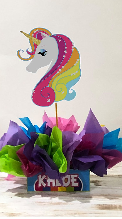 Unicorn Party Centerpieces decorations birthday party