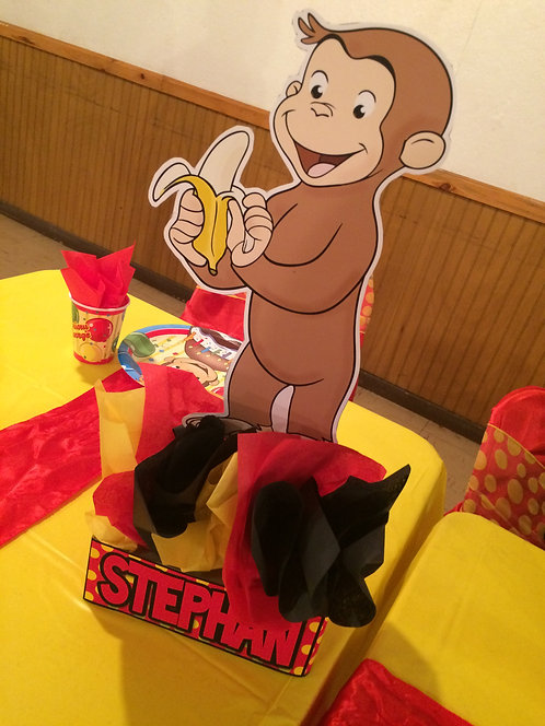 CURIOUS GEORGE BIRTHDAY PARTY CENTERPIECES