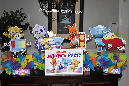 Word Party Birthday Centerpieces