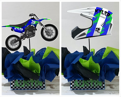 Motocross Party Centerpieces decorations birthday party dirt bike motorcycle