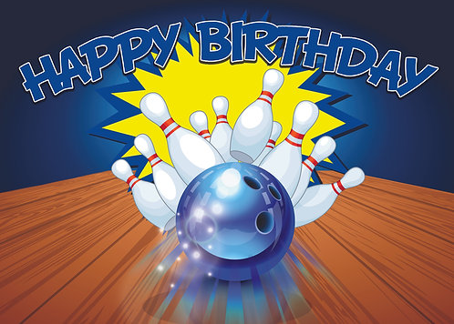 Bowling Birthday Party Banner Background