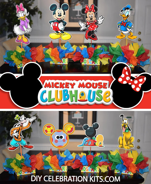 Mickey Mouse Birthday Party Centerpieces