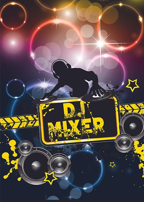 DJ Birthday Party Banner Background
