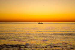 Kayaking to the sun