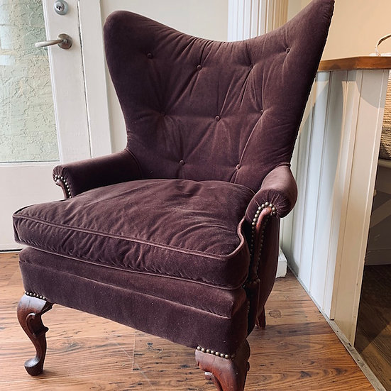 Butterfly Wingback Custom Upholstered