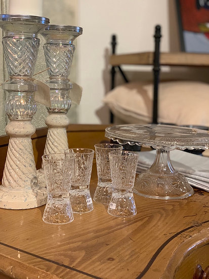 Italian Crystal Shot Glasses