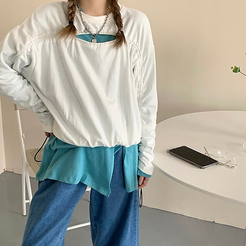 Ripped Bust Sweater H10126