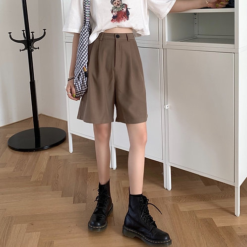 Plain Slim Shorts