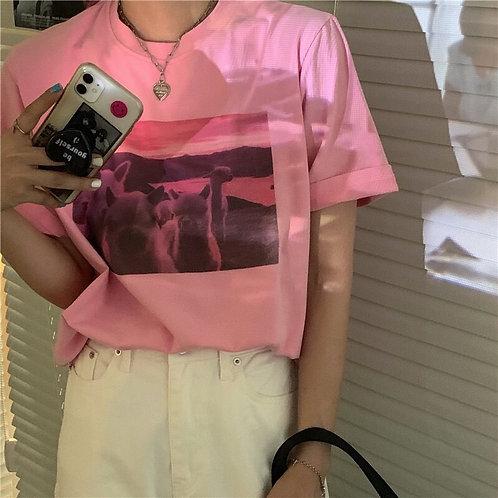 Alpaca Printed Oversized Shirt H8912