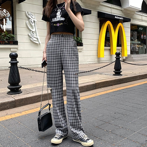 Seperate Checkered Pants H961