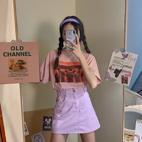 Pastel Purple Skirt H2544