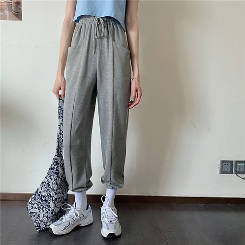 Plain Tied Up Harem Pants