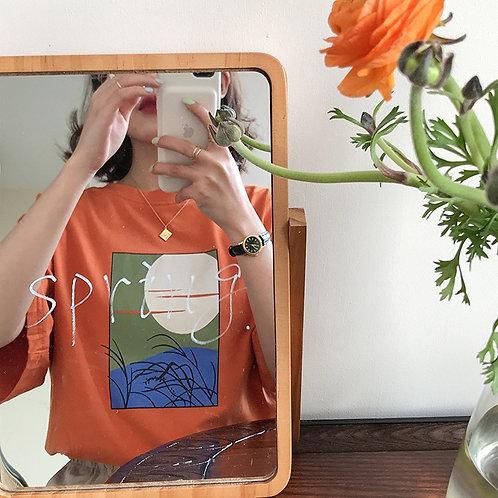Abstract Figure Shirt H3940