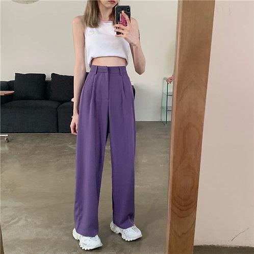 Plain Femme Loose Casual Suit Pants H63266