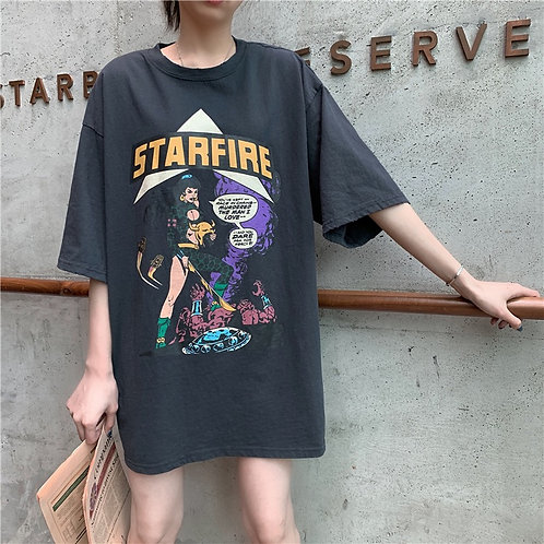 Star Fire Figure Print Shirt H61353