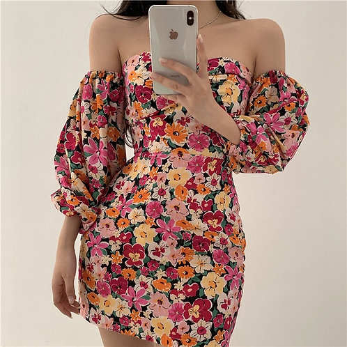 Janette Floral Print Dress