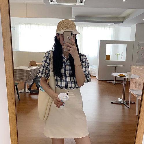 Plain Aline Skirt H3977