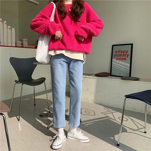 Plain Wash Jeans H6966