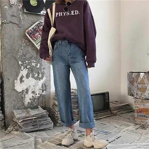 Casual Rolled Up Jeans H5991