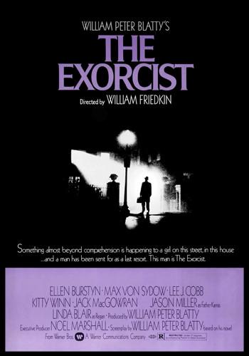 the exorcist movie cover, horror movie cover, horror film cover