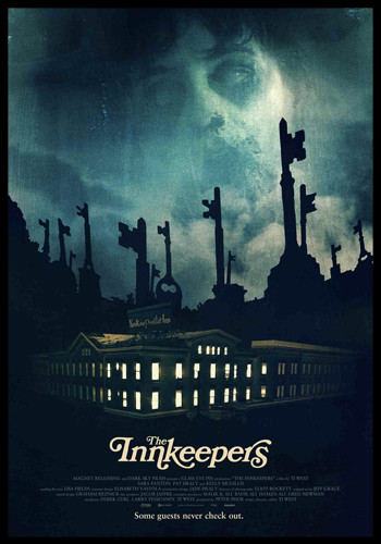 the innkeepers cover, horror movie cover, horror film cover