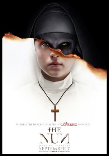the nun cover, horror movie cover, horror film cover