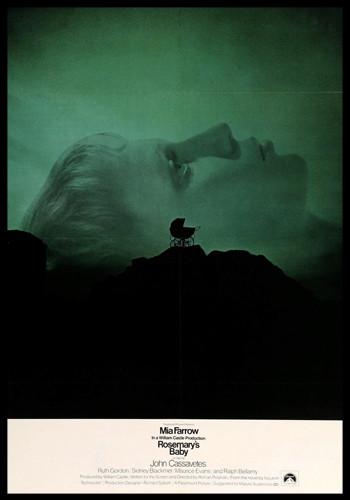 rosemary's baby cover, horror movie cover, horror film cover