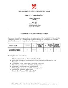 HKANY AGM 2018 Result