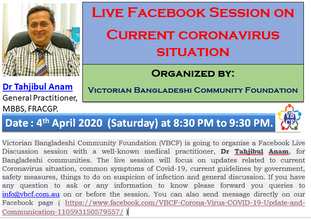 Live Facebook Session on Current coronavirus situation