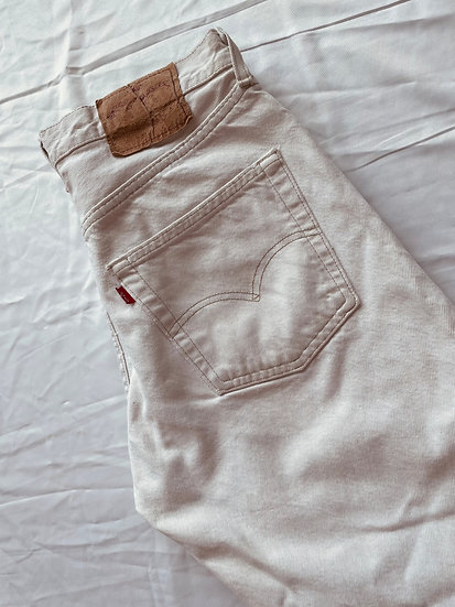 Levis Washed out Ecru 501s