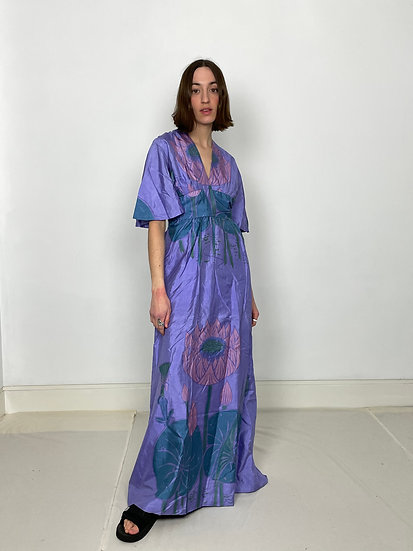 Pure Silk Maxi Floral Dress