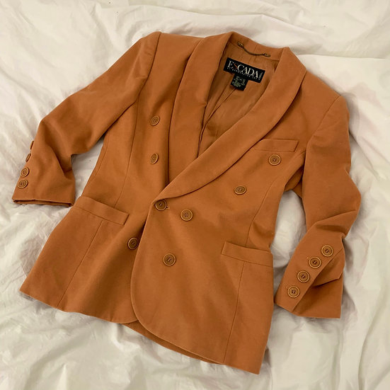 Oversized Escada Wool Blend Blazer