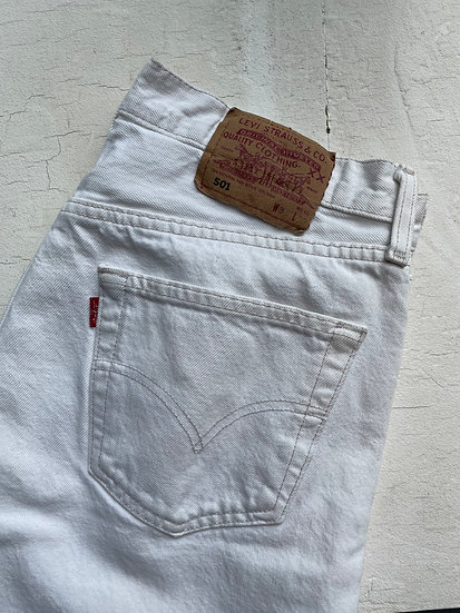 "Levis 501 White Jeans - Waist 31""/32"""