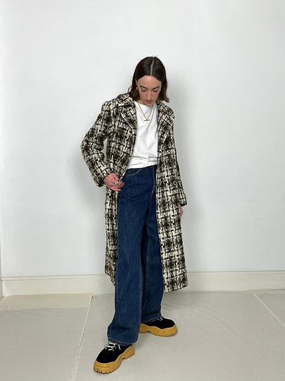Aquascutum Wool Tweed Longline Coat