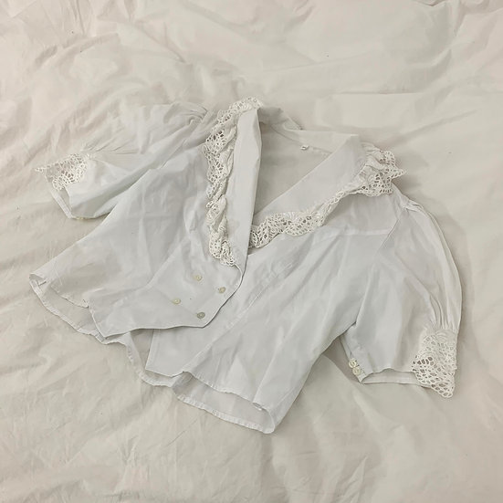 Large Collar Broderie Anglaise Top
