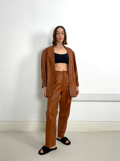 Real Leather Relaxed Suit