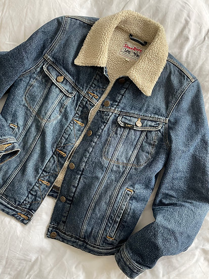 Lee Stormrider Faux Sheepskin Lined Denim Jacket