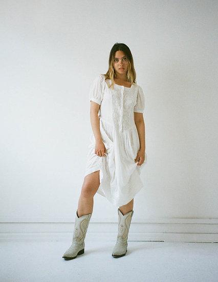 Prairie Embroidered Cotton Dress
