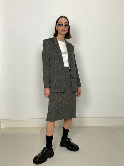 Christian Dior Pure Wool Skirt Suit